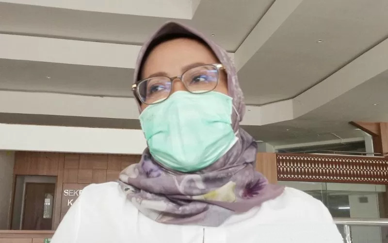 Bupati Bogor, Ade Yasin selaku Ketua Satgas Covid/19 Kabupaten Bogor di Cibinong, Bogor, Jawa Barat. ANTARArn