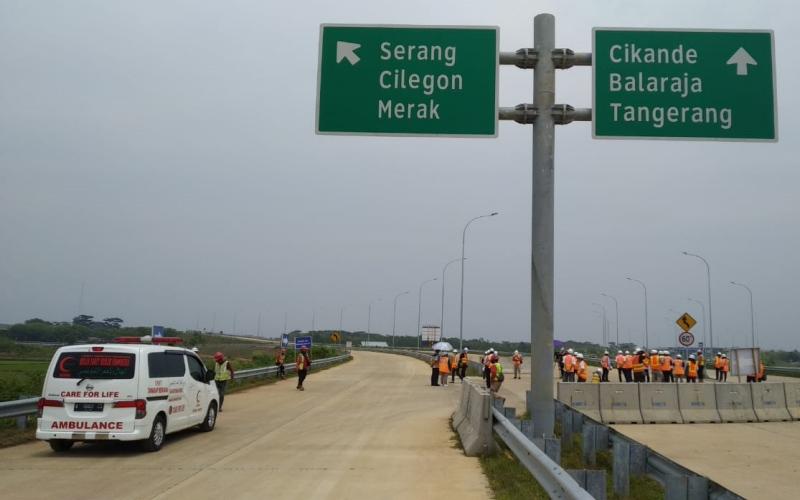 Proyek jalan tol di Banten. - Istimewa/Kementerian PUPR
