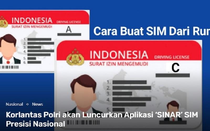 Cara Pendaftaran SIM Online melalui Aplikasi SINAR  -  Korlantas Polri