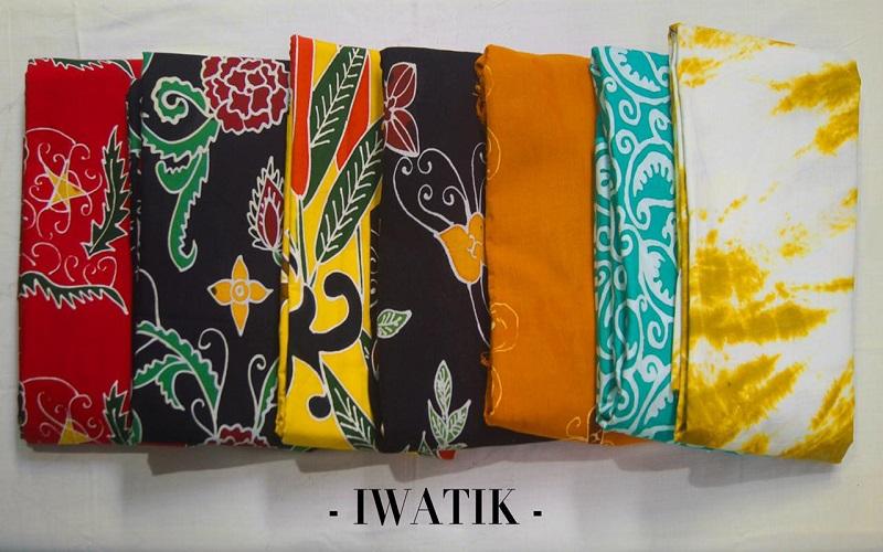 Jenis batik khas Kaltim yang di produksi oleh Iwatik. - Istimewa