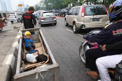 Ilustrasi Kemiskinan di Indonesia  -  bisnis.com