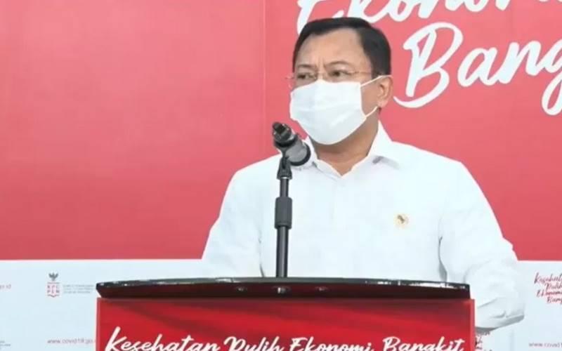 Mantan Menteri Kesehatan Terawan Agus Putranto di Balik Vaksin Nusantara  -  Antara