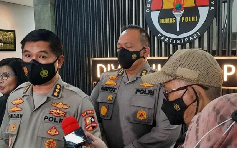 Kepala Bagian Penerangan Umum (Kabagpenum) Kombes Pol Ahmad Ramadhan, Rabu (14/4/2021). - Antara\r\n\r\n