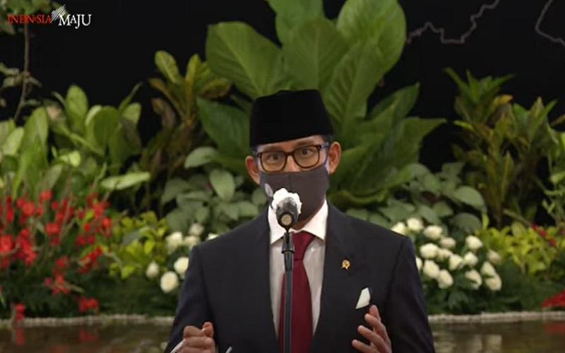 Menteri Pariwisata dan Ekonomi Kreatif Sandiaga Uno  -  Youtube : Sekretariat Presiden RI