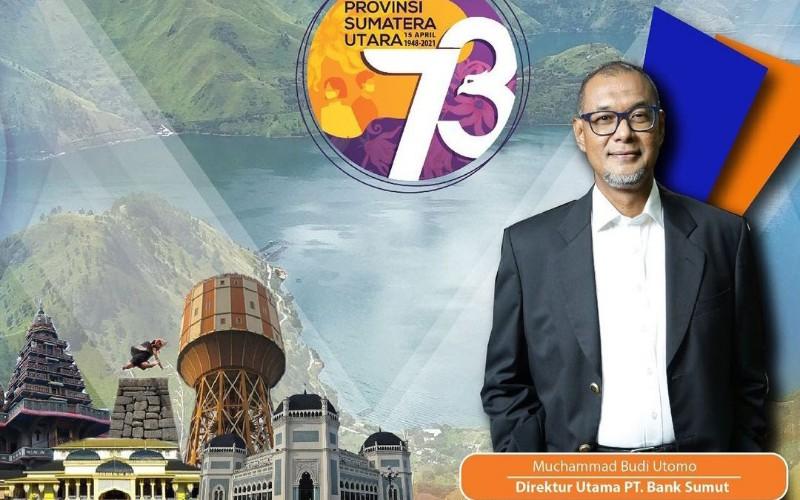 Direktur Utama PT Bank Sumut Muchammad Budi Utomo meninggal dunia Kamis (15/4 - 2021) di Rumah Sakit Universitas Sumatra Utara (USU) Medan.
