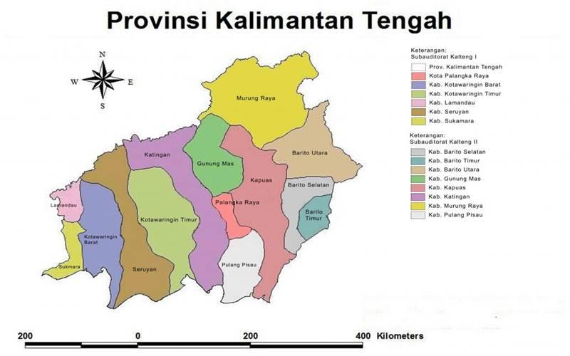 Peta Kalimantan Tengah - kalteng.bpk.go.id