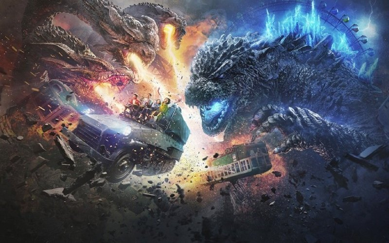 Godzilla the Ride: Great Kaiju Decisive Dominance Battle.  - Taman Hiburan Godzilla