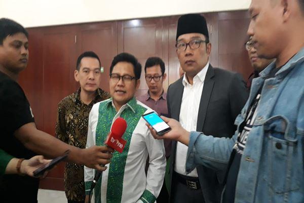 Ketua Umum PKB Muhaimin Iskandar dan Ridwan Kamil di gedung DPP PKB Jakarta, Rabu (4/7). - JIBI/M Ridwan