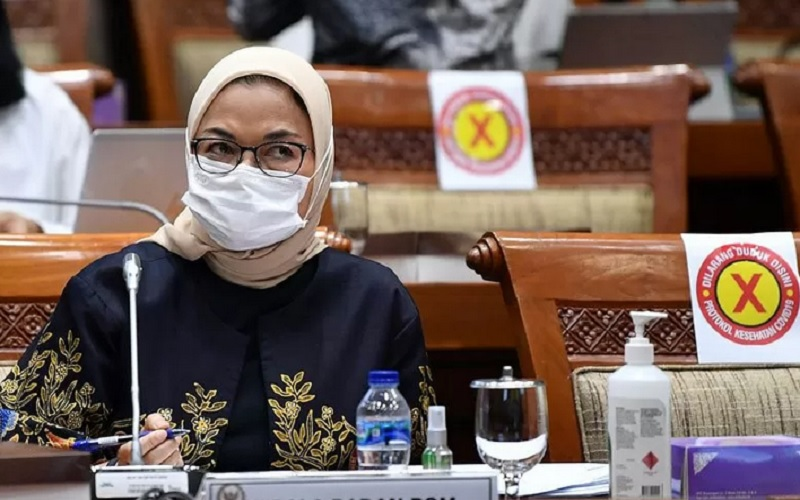 Kepala Badan POM, Penny Kusumastuti Lukito mengikuti rapat di DPR - Antara