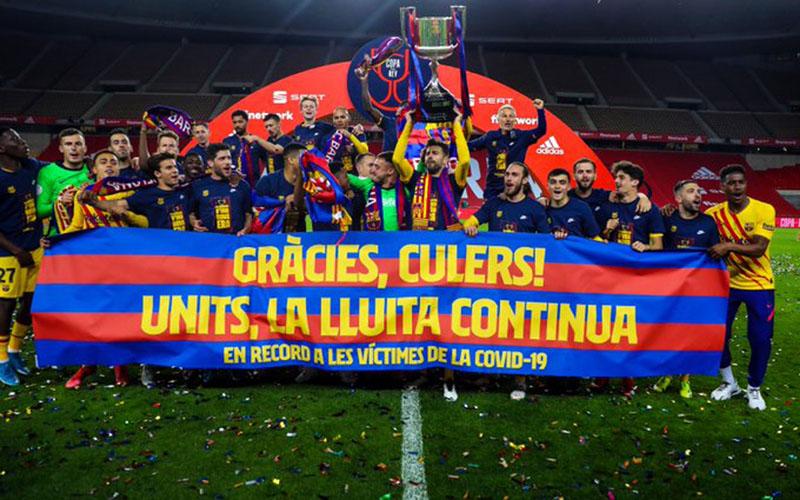 Barcelona juara Copa del Rey 2020-2021. - Twitter@FCBarcelona