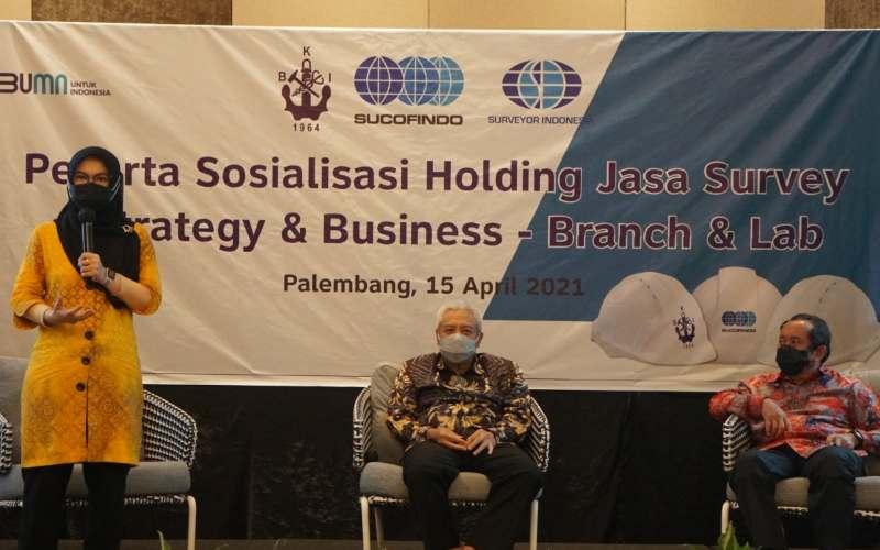 Biro Klasifikasi Indonesia, Sucofindo, dan PT Surveyor Indonesia melakukan persiapan dan sosialisasi di Palembang pada Kamis (15/4 - 2021).