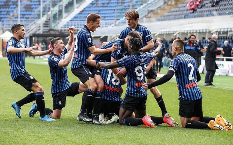 Para pemain Atalanta Bergamo merayakan gol ke gawang Juventus. - Twitter@Atalanta_BC