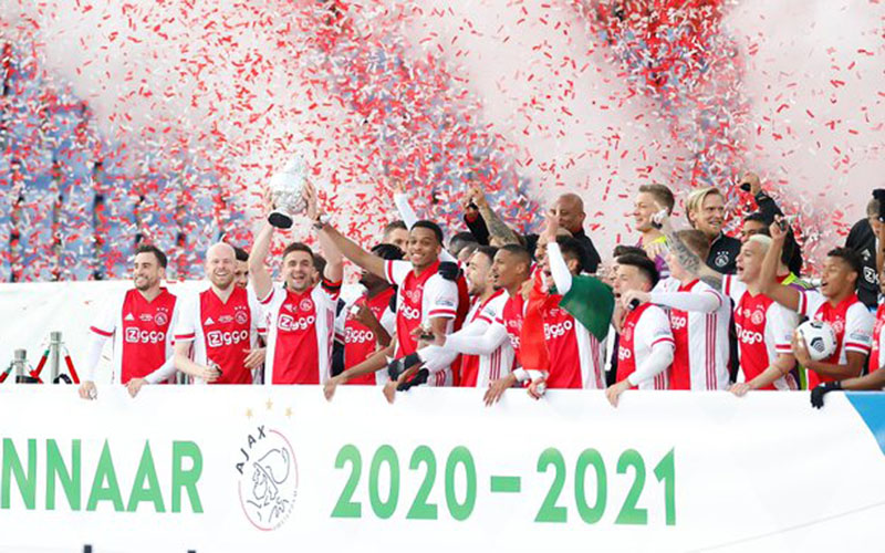 Ajax Amsterdam juara Piala Belanda musim 2020-2021. - Twitter@AFCAjax