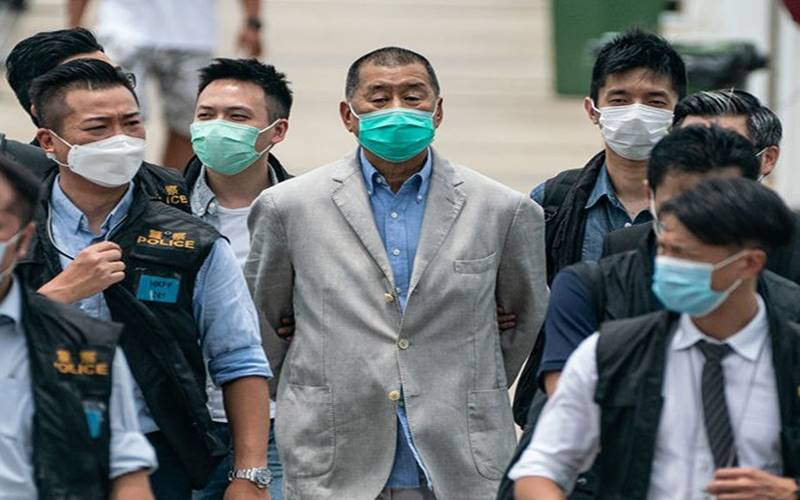 Raja media Hong Kong, Jimmy Lai (tengah). - Istimewa