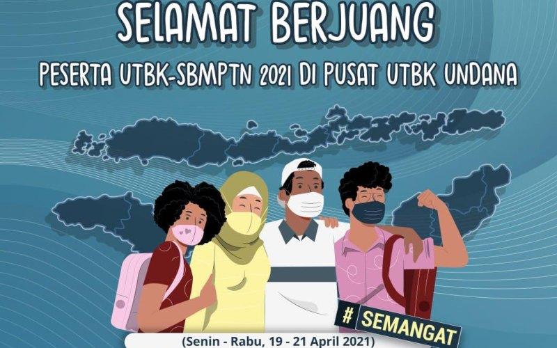 Poster penyelenggarakan UTBK-SBMPTN untuk pusat UTBK Undana yang diunggah Lembaga Tes Masuk Perguruan Tinggi (LTMPT) di sosial media - Twitter/@ltmptofficial