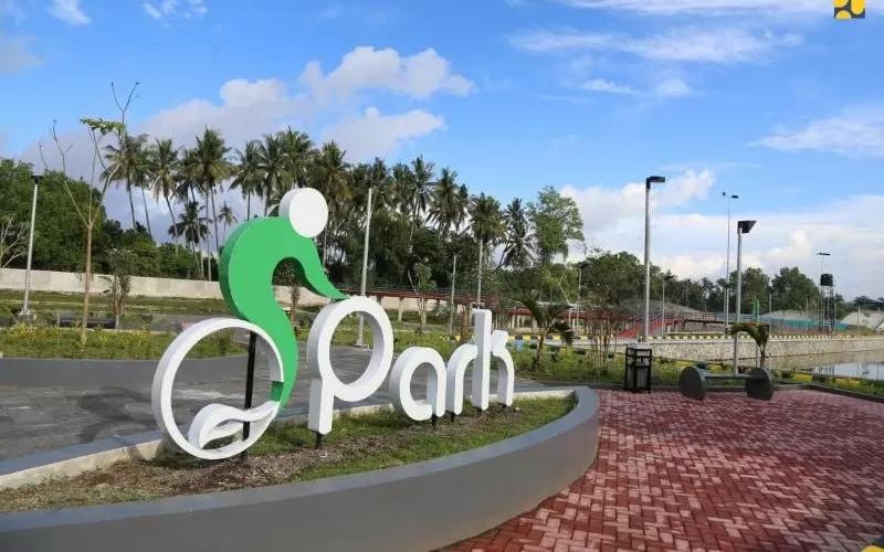 Kawasan Taman Bersepeda (Bike Park) di Kabupaten Lombok Barat, Nusa Tenggara Barat (NTB).  - Kementerian PUPR.