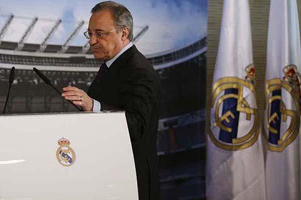 Presiden Real Madrid Florentino Perez, penggagas Liga Super Eropa. - Reuters