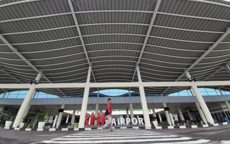 Bandara Raja Haji Fisabilillah, Tanjungpinang, Kepulauan Riau.  - ANTARA