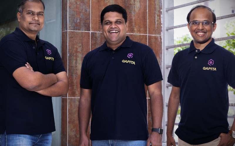 Dari kiri ke kanan: Vamsee Mohan (CTO), Ravi Ravulaparthi (CEO), Lakshman Gupta (COO)