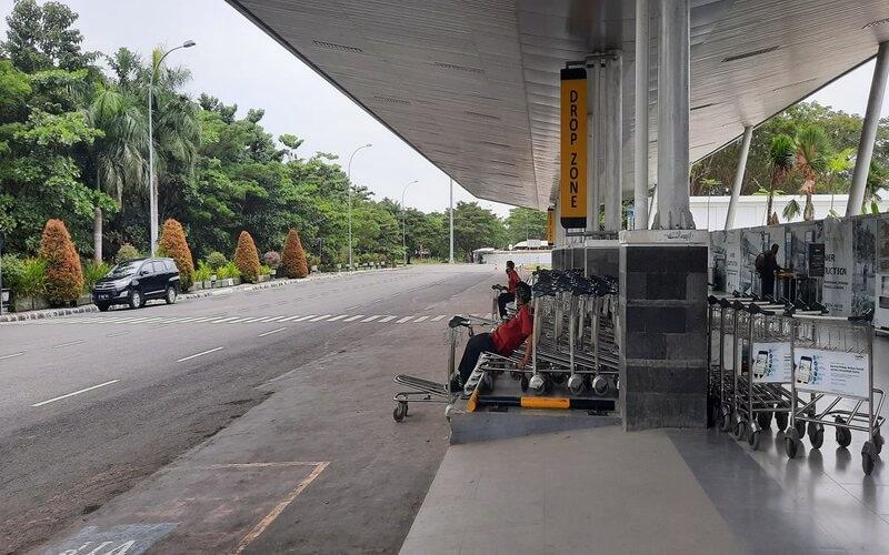 Suasana Bandara Internasional Lombok. - Bisnis/Noris S.