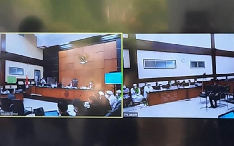 Bima Arya saat dihadirkan sebagai saksi dalam sidang lanjutan Rizieq Shihab di Pengadilan Negeri Jakarta Timur, Rabu (14/4/2021). - Antara/Yogi Rachman