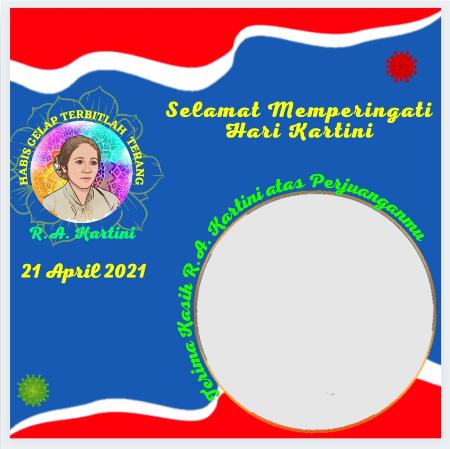 Memperingati Hari Kartini dengan mengupload foto di Twibbon. - tangkapan layar