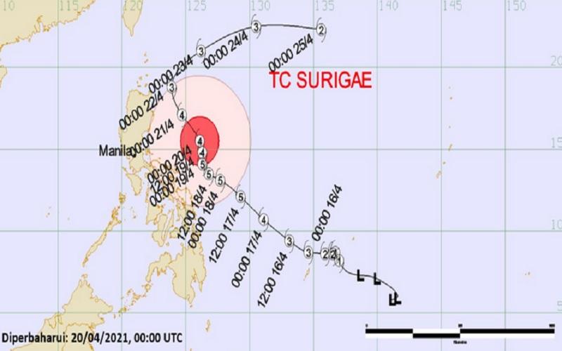 Siklon Tropis Surigae 12-25 April 2021. - bmkg