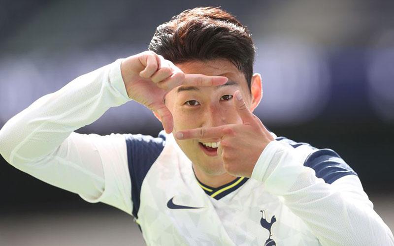 Pemain depan Tottenham Hotspu Son Heung-min. - PremierLeague.com