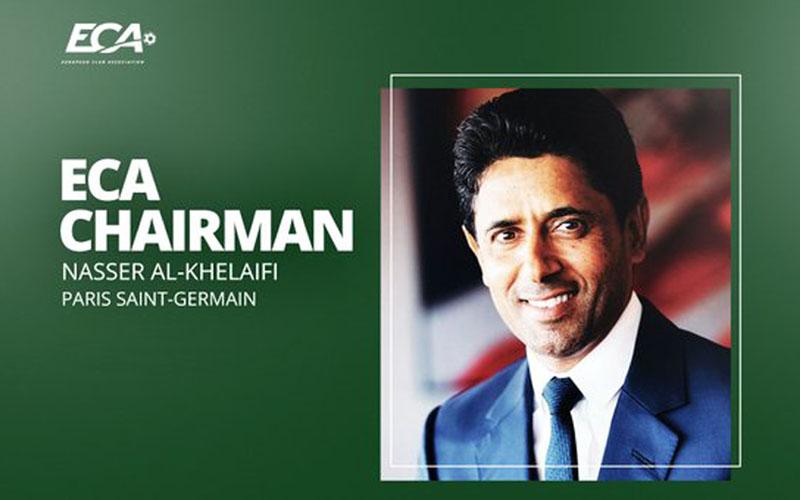 Nasser Al-Khelaifi terpilih menjadi Ketua Asosiasi Klub Eropa (ECA). - Twitter@ECAEurope