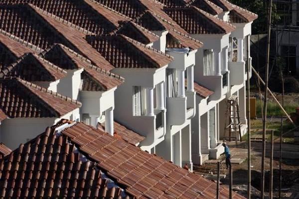 Ilustrasi penyelesaian konstruksi perumahan mewah. / Bisnis - Paulus Tandi Bone