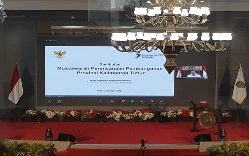 Sambutan Menteri Bappenas secara virtual dalam Musrenbang Perubahan 2019-2023 dan Musrenbang RKPD 2022. - Istimewa
