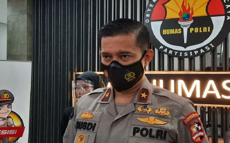 Kepala Biro Penerangan Masyarakat (Karonpenmas) Divisi Humas Polri Brigjen Pol Rusdi Hartono, Rabu (31/3/2021). - Antara