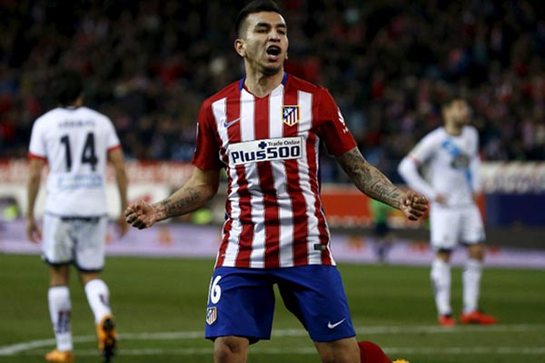 Penyerang Atoletico Madrid Angel Correa - Reuters