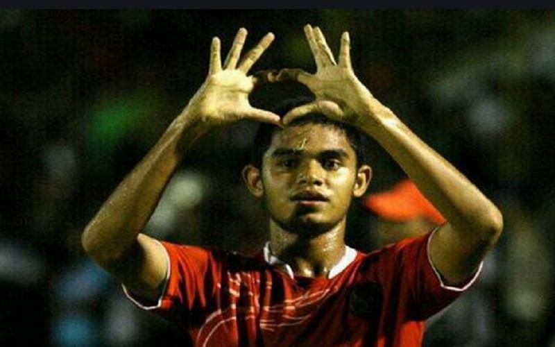 Pemain sepak bola Miftahul Hamdi - Twitter @miftahulhamdi17