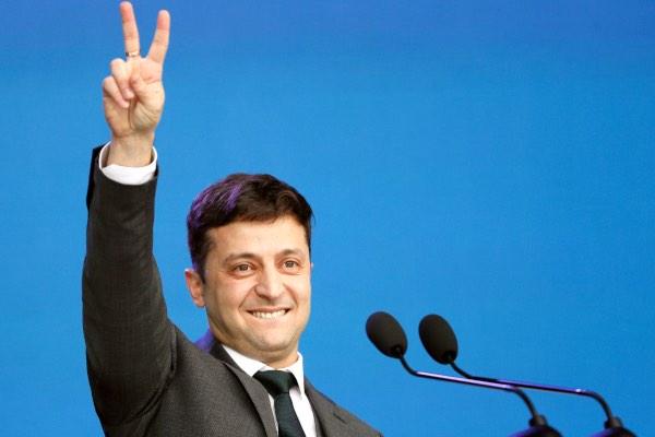 Volodymyr Zelensky, komedian yang terpilih sebagai Presiden Ukraina dalam Pemilu pada April 2019. - Reuters/Valentyn Ogirenko