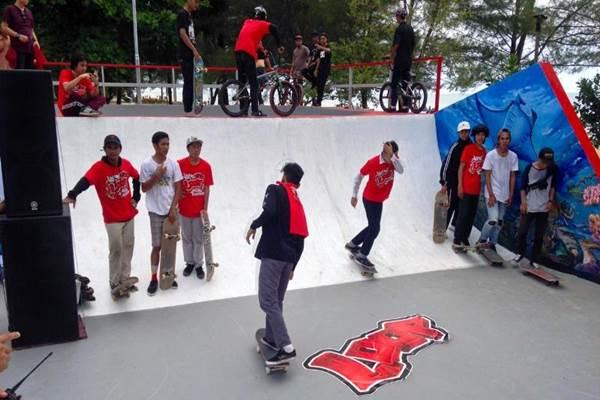 Sebagai pintu masuk Kaltim, Balikpapan menjadi satu dari 11 kota yang terdapat Loop Arena, wadah sekaligus pengembahan hobi anak muda. - Bisnis.com/Fariz Fadhillah