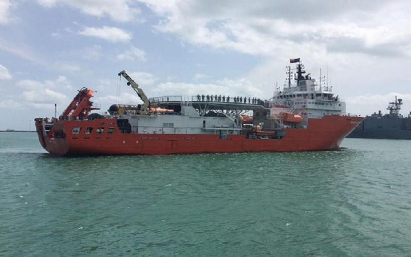 Pemerintah Singapura mengirimkan Kapal MV Swift Rescue untuk membantu mencari KRI Nanggala-402  yang hilang pada Rabu (14/4/2021) di perairan Bali utara. - Istimewa