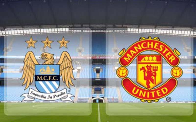 Lambang klub Manchester City dan Manchester United. - Dok. Istimewa