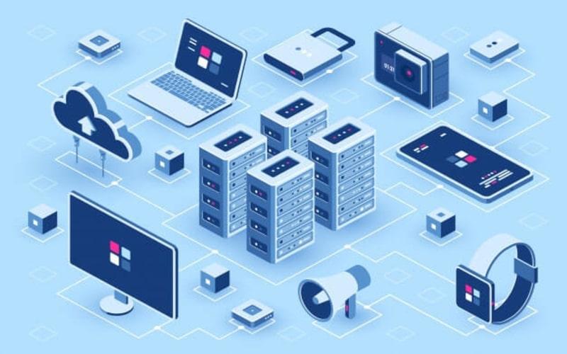 Ilustrasi data center.