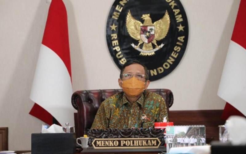 Menteri Koordinator bidang Politik, Hukum dan Keamanan Mahfud MD/Antara - HO/Humas Kemenko Polhukam
