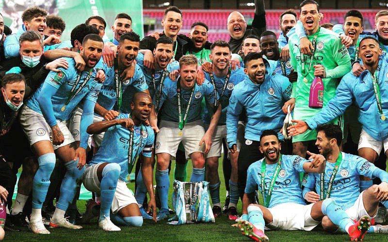 Manchester City juara Piala Liga Inggris (EFL Cup/Carabao Cup) 2020-2021. - Twitter@ManCity