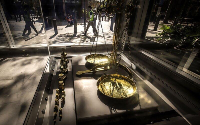 Suasana di kantor Reserve Bank of Australia. Keputusan RBA untuk menekan suku bunga acuan mendorong pemulihan bisnis properti. - Bloomberg