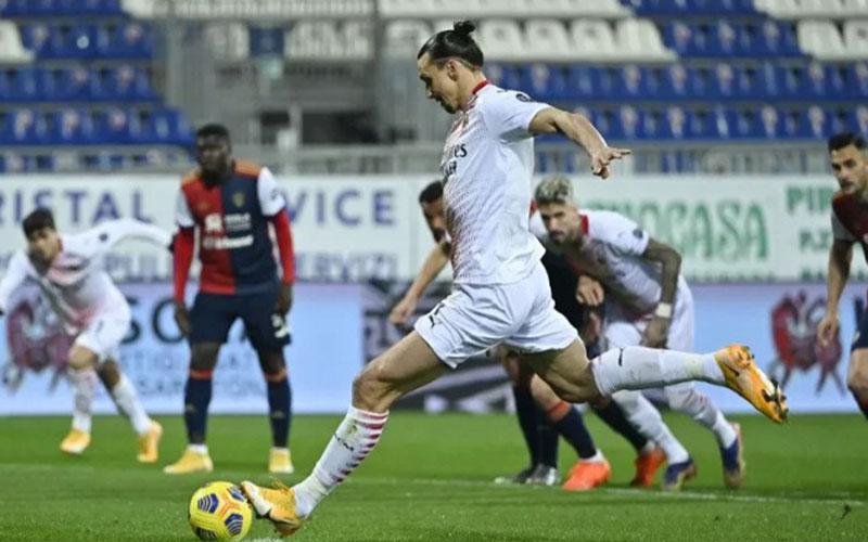 Ujung tombak AC Milan Zlatan Ibrahimovic./Antara - AFP