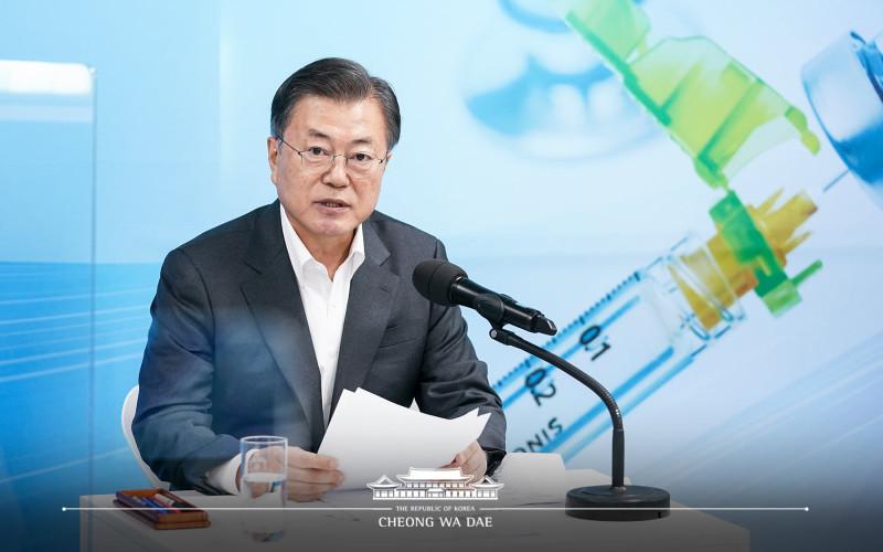 Presiden Korea Selatan Moon Jae-in.  - @TheBlueHouseENG