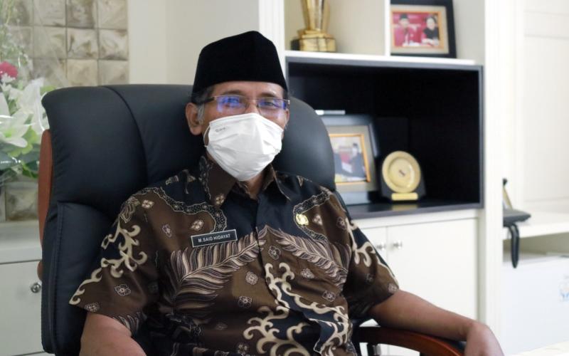 M. Said Hidayat, Bupati Boyolali, ketika ditemui Bisnis di ruang kerjanya, Selasa (27/4/2021). - Muhammad Faisal Nur Ikhsan  -  BISNIS