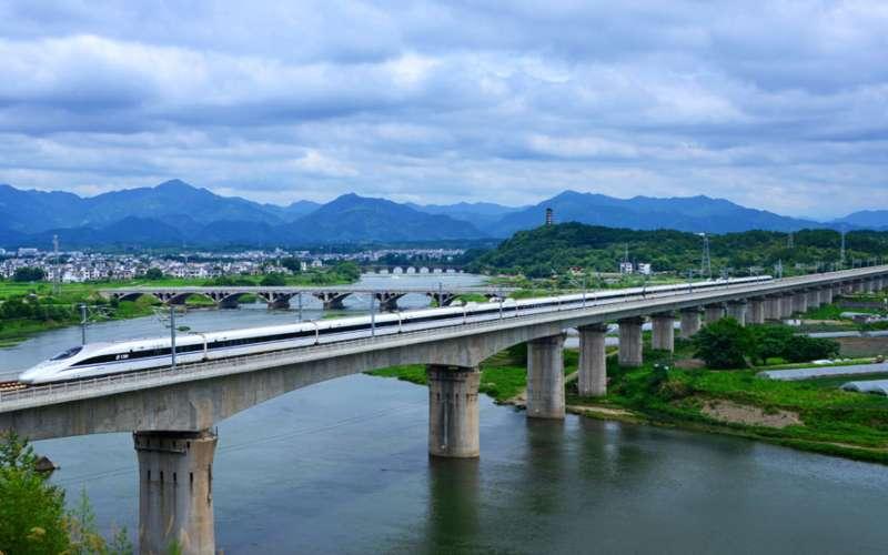 Ilustrasi. Potret kereta cepat melintas di China. - www.chinadiscovery.com