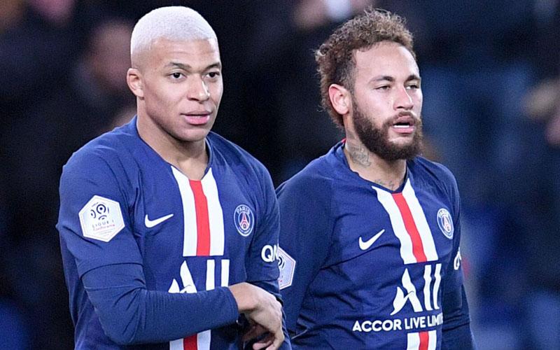 Duet lini depan Paris Saint-Germain, Kylian Mbappe (kiri) dan Neymar da Silva Jr. - Ligue1.com