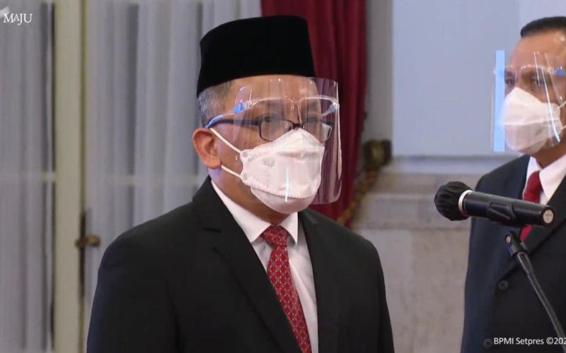 Laksana Tri Handoko saat dilantik menjadi Kepala Badan Riset dan Inovasi Nasional (BRIN) oleh Presiden Jokowi di Istana Negara, Jakarta, Rabu 28 April 2021. - Youtube/Sekretariat Presiden