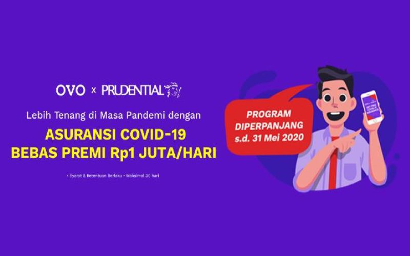 Program Ovo dan Prudential terkait asuransi corona - Dok. Ovo