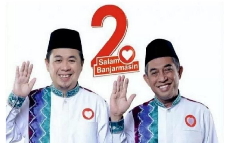 Pasangan calon Wali kota dan Wakil Wali kota Banjarmasin, Ibnu-Arifin. - Antara